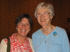 Laura Nagel and Shirley Ranck