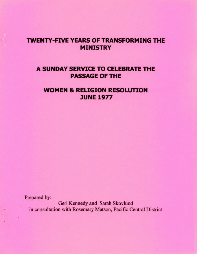25 years transforming ministry